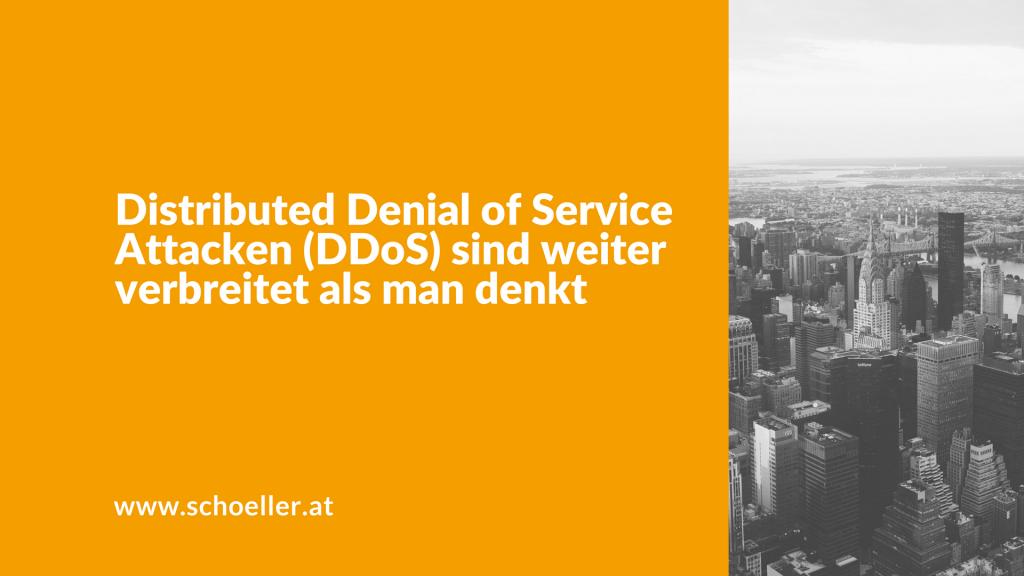 Distributed Denial of Service Attacken (DDoS) sind weiter verbreitet als man denkt
