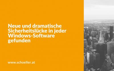 Neue und dramatische Sicherheitslücke in jeder Windows-Software gefunden